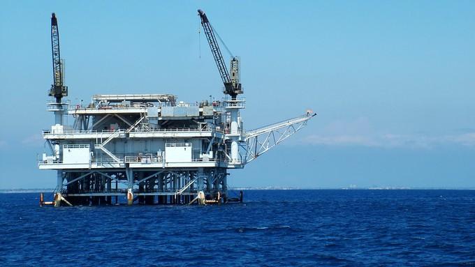 Image caption: There are still 27 oil platforms off the California coastline.