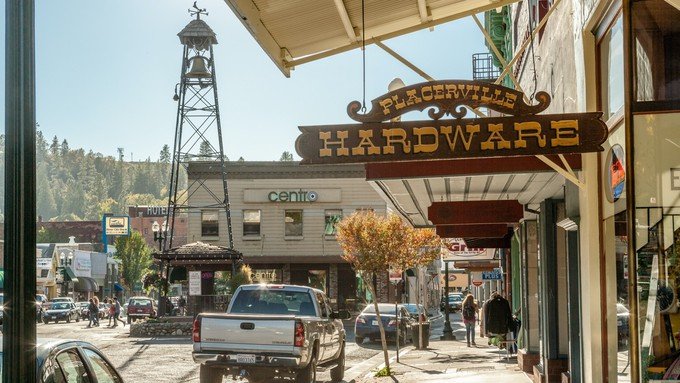 A picture of downtown Placerville.