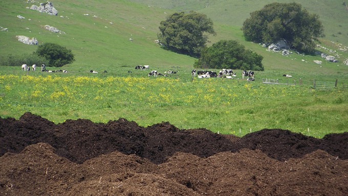 Image caption: At the dump, food waste is methane-producing garbage. At a farm, it's a valuable part of the food web.