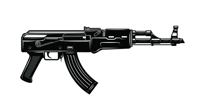 """Image caption: ATF agents found automatic weapons, including parts of AK-47s, that had been altered using various kits—so-called """"ghost guns."""""""