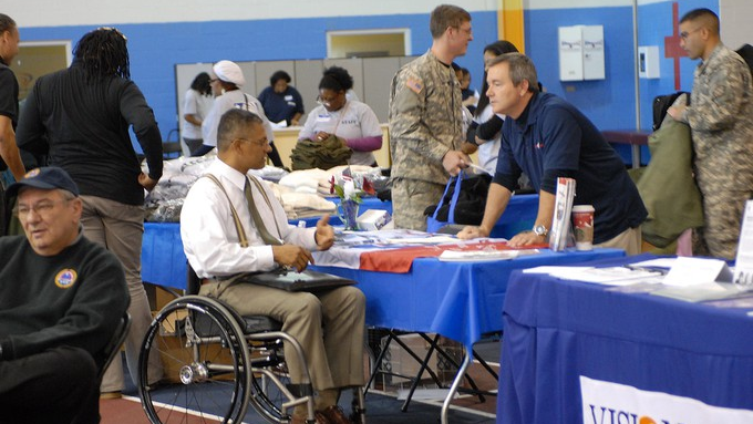 Image caption: Stand Down events provide veterans with valuable resources including housing assistance, medical care, and a solid community of support.