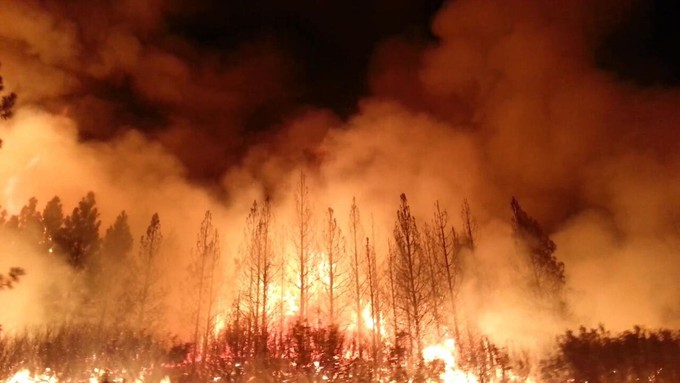 Image caption: Truckee's 'Moonshine Ink' newspaper offers a unique package of fire coverage.
