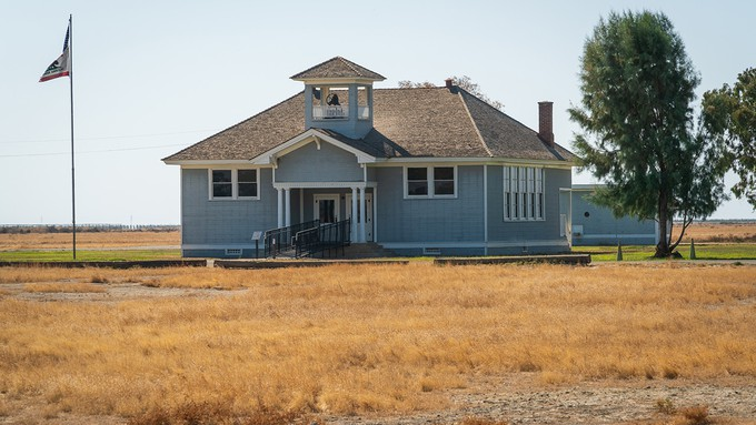 Image caption: The schoolhouse was the biggest building in Allensworth, the town founded by Col. Allen Allensworth, which is now a state park.