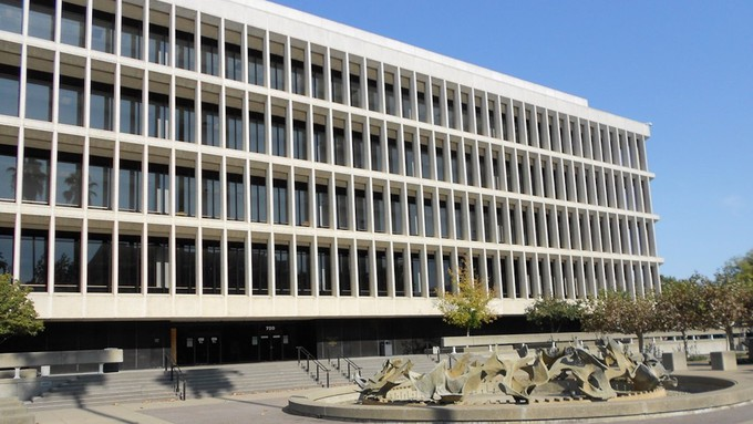 Image caption: The Gordon D. Schaber Sacramento County Courthouse in the state's capital city.