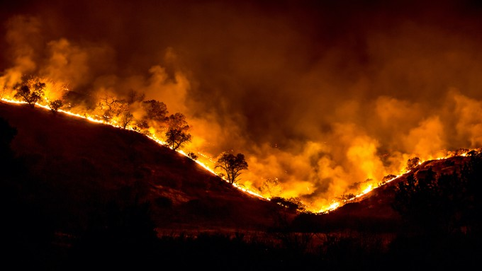 Image caption: California homeowners are fighting to get back cancelled fire insurance policies.