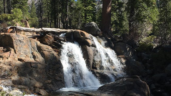 Image caption: Squaw Creek in Shirley Canyon, from a feature story in Tahoe Weekly's 2021 summer guide.