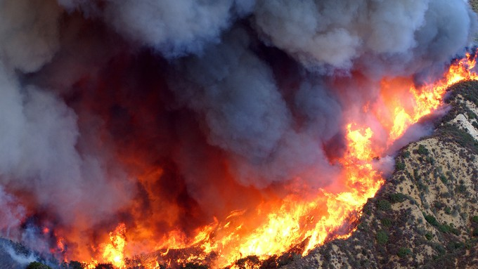 Image caption: It's well known that climate change is making wildfires worse — but how?